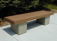 Mall Bench w/ Framed IPE Seat