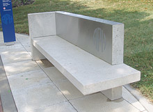 Special Made Bench with Stainless Steel Back