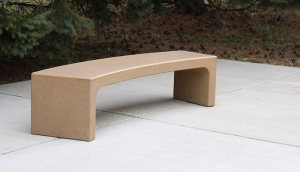 B5975-One-Piece-Curved-Bench