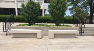 B722418 Benches back to back on PCA campus.