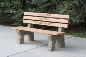 Concrete bench are durable and maintenance free.